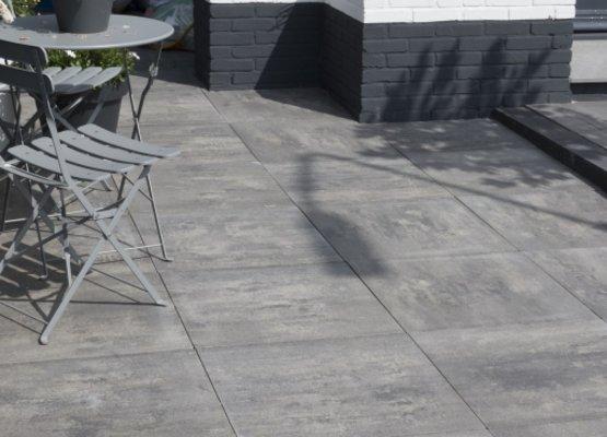 Tegels 50x50 Antraciet : Aanbieding betontegels 50x50